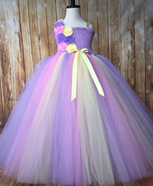 Lavender Tutu, Lavender Girls Tutu Dress, Girls Lavender Flower Girl Dress