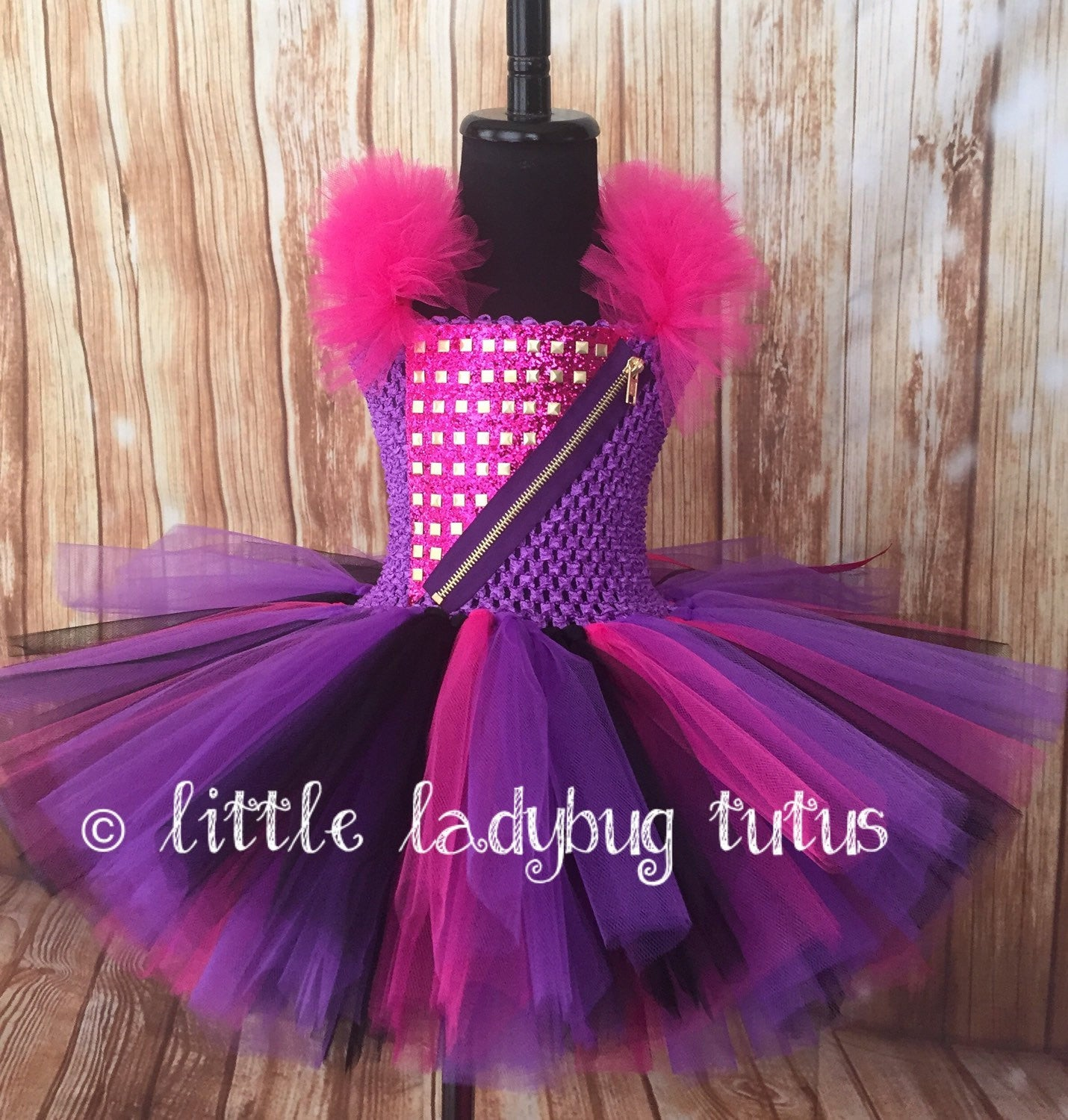 Mal Tutu, Mal Tutu Dress, Descendants Tutu, Mal Costume, Descendants Costume