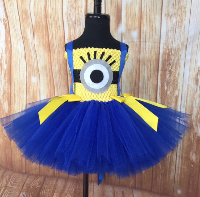 Minion Tutu, Minion Tutu Dress, Minion Costume, Girls Minion Tutu