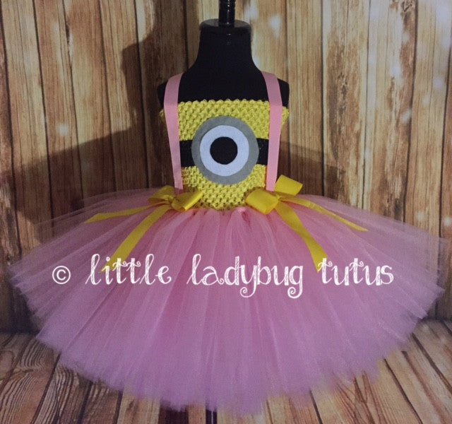 Minion Tutu, Minion Tutu Dress, Pink Minion Costume, Girls Pink Minion Dress