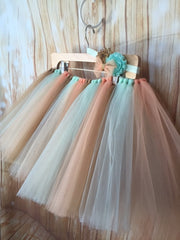 Mint, Peach and Gold Tutu Skirt - Little Ladybug Tutus