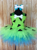 Pebbles Tutu, Pebbles Tutu Dress, Girls Flinstones Costume - Little Ladybug Tutus