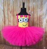 Minion Tutu, Minion Tutu Dress, Pink Minion Tutu, Pink Minion Costume - Little Ladybug Tutus