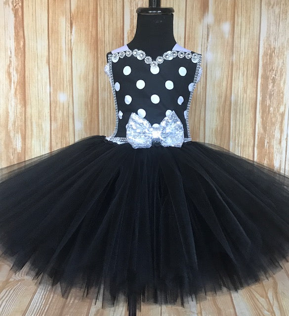 Black & White Polka Dot Girls Tutu, Black and White Tutu Dress - Little Ladybug Tutus