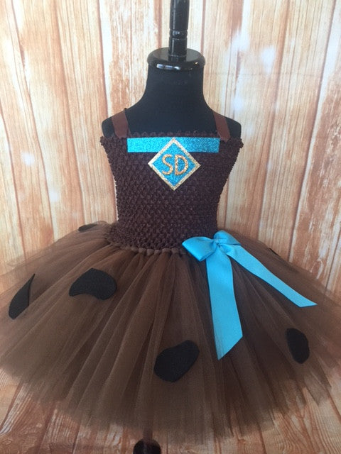 Scooby Doo Tutu, Scooby Doo Costume, Girls Scooby Doo Dress - Little Ladybug Tutus