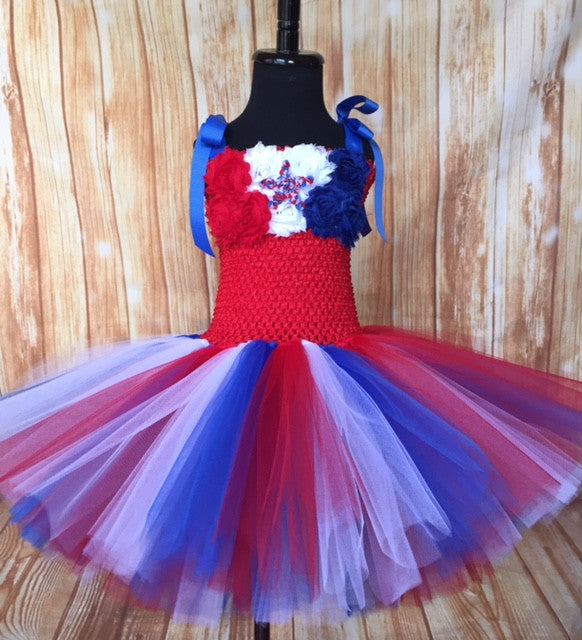American Flag Tutu, Girls Patriotic Tutu, Patriotic Pageant Dress, Patriotic Tutus for Girls
