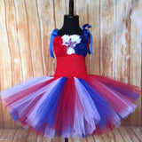 American Flag Tutu, Girls Patriotic Tutu, Patriotic Pageant Dress, Patriotic Tutus for Girls - Little Ladybug Tutus
