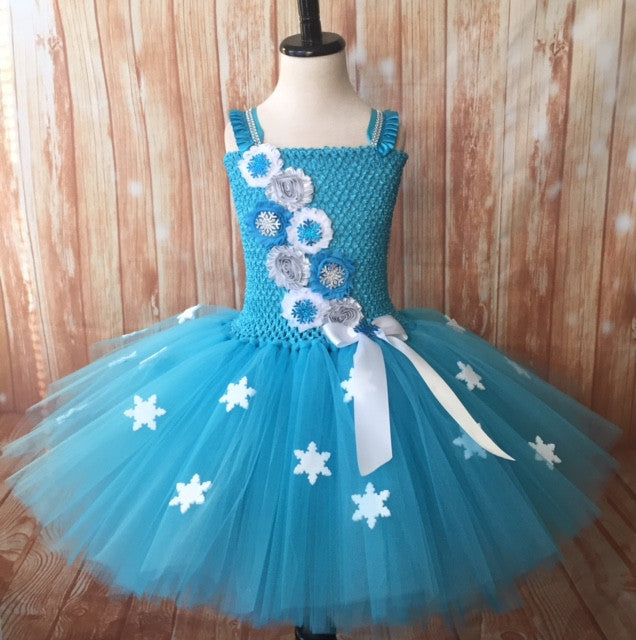 Snowflake Tutu, Snowflake Dress, Frozen Elsa Birthday Party Dress - Little Ladybug Tutus