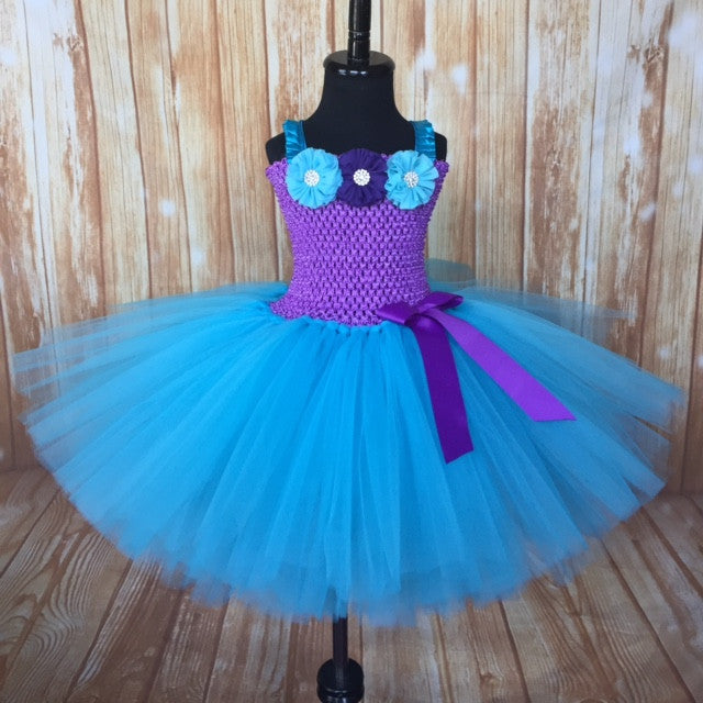 Purple and Turquoise Tutu, Purple and Turquoise Tulle Dress, Mermaid Tutu, Mermaid Dress, Mermaid Tutu Dress, Mermaid Party, Mermaid Birthday, Mermaid Pageant Dress, Purple and Turquoise Flower Girl Tutu, Spring Wedding, Summer Wedding, Beach Wedding