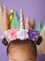 Custom Made Unicorn Headband - Little Ladybug Tutus