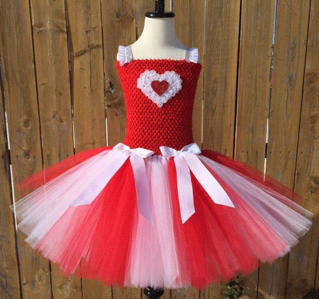 Valentines Day Tutu Dress, Valentine's Day Tutu Dress, Girls Cupid Tutu, Girls Cupid Dress, Red Valentines Day Tutu, Red and White Valentine's Day Tutu, Red Cupid Tutu Dress, Valentine's Day Photo Session Tutu Dress - Little Ladybug Tutus