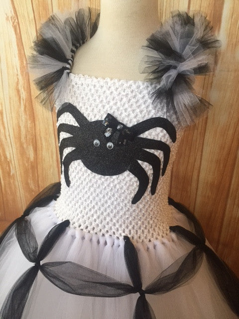 Spider Tutu, Girls Spider Costume, Halloween Spider Outfit, Spider Photography Dress Prop - Little Ladybug Tutus