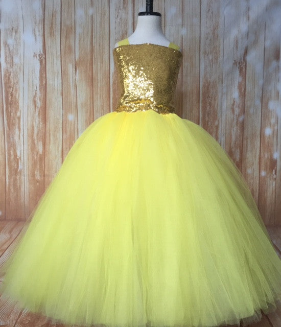 Gold & Yellow Tutu, Gold and Yellow Tutu Dress, Girls Yellow & Gold Tutu, Girls Gold and Yellow Tutu, Gold Flower Girl Tutu, Gold Pageant Tutu, Yellow Tutu, Yellow Tutu Dress, Girls Yellow Flower Girl Dress, Yellow Wedding