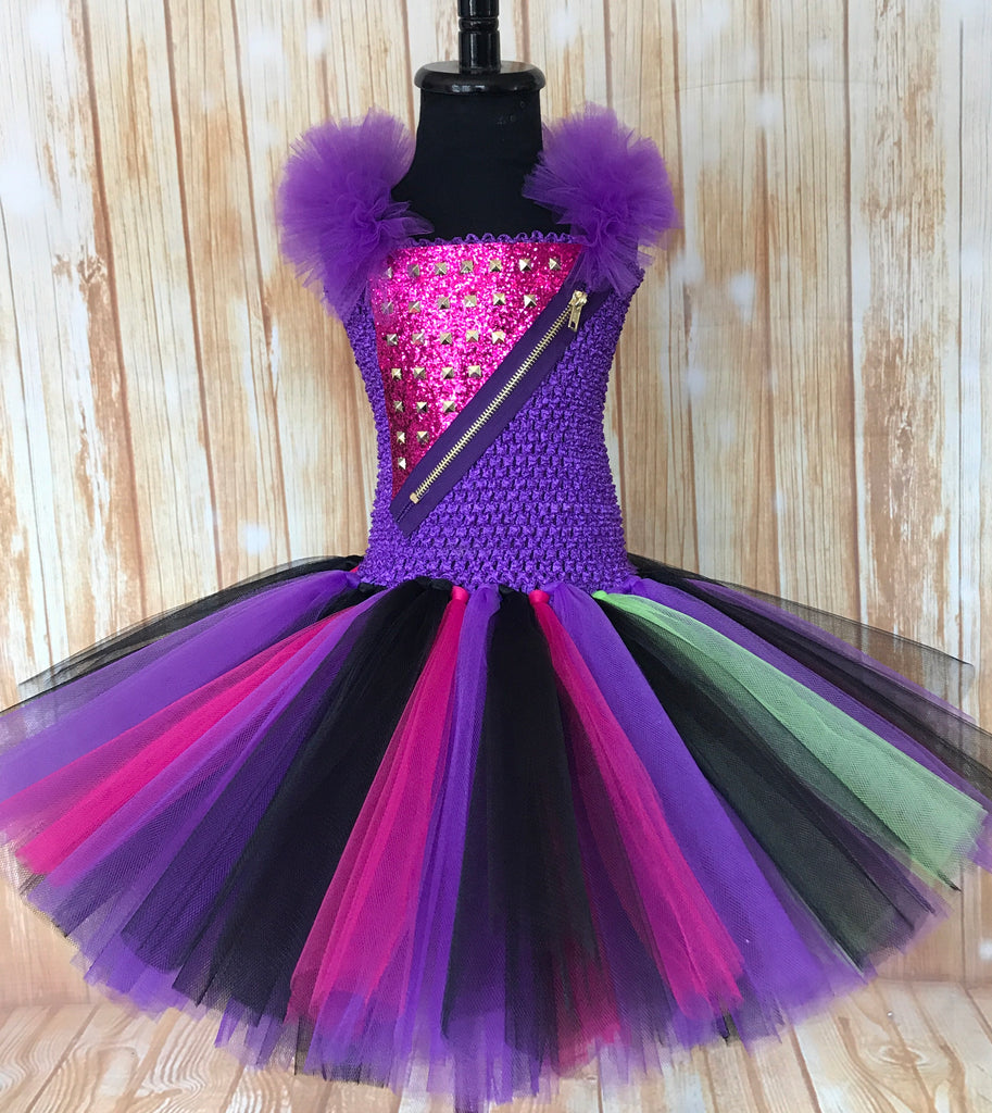 Mal Tutu, Mal Tutu Dress, Descendants Tutu, Descendants Costume