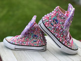 LOL Surprise Unicorn Doll Converse Sneakers, Big Kid Shoe Size 3-6
