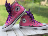 LOL Surprise Doll Purple Queen Converse Sneakers, Infants and Toddler Shoe Size 2-9 (Hard Sole)
