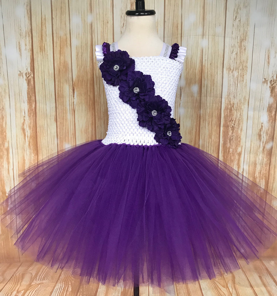White and Purple Tutu, Purple Tutu Dress