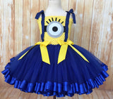Minion Tutu, Minion Ribbon Trim Tutu, Minion Dress, Minion Party Tutu, Minion Birthday Tutu - Little Ladybug Tutus