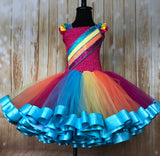 Jojo Ribbon Trimmed Tutu, Jojo Siwa Tutu, Jojo Siwa Girls Costume, Jojo Dress, Jojo Outfit - Little Ladybug Tutus