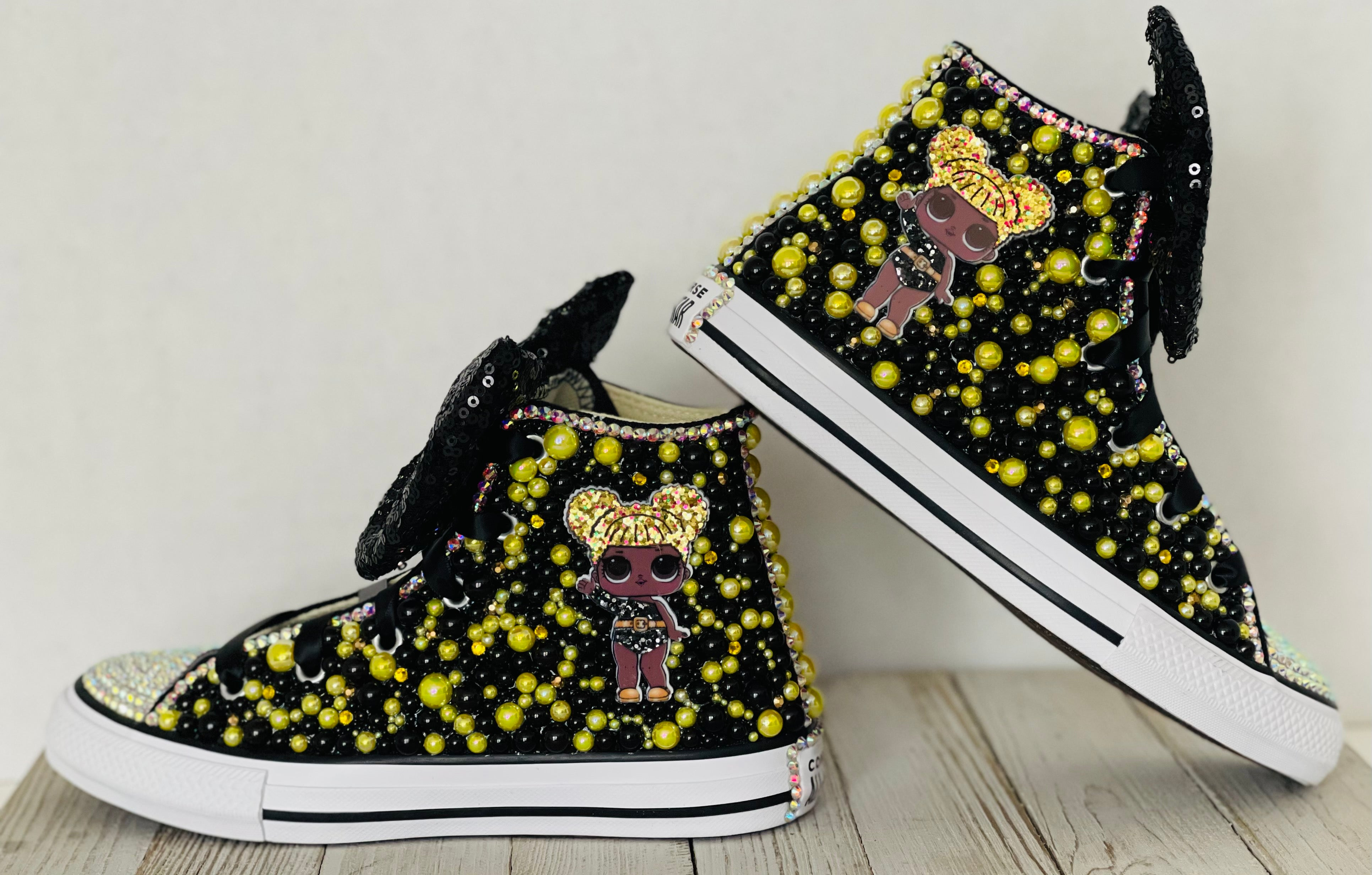 LOL Surprise Doll Queen Bee Converse Sneakers, Little Kids Shoe Size 10-2