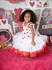 Valentines Tutu, Heart Tutu, Valentine's Day Photo Session Tutu Dress