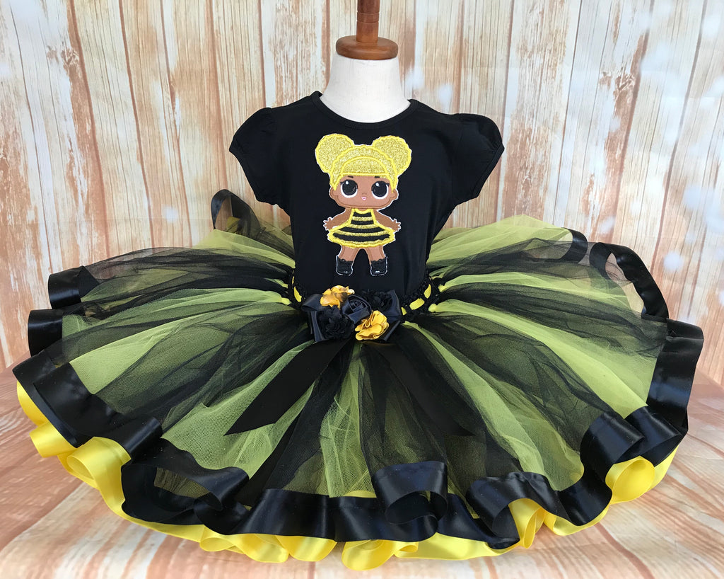 LOL Surprise Doll Queen Bee Tutu Set, Queen Bee Birthday Outfit