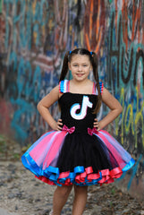 TikTok Tutu, Tik Tok Party, TikTok Birthday, Tik Tok Outfit,Tik Tok Girls Dress