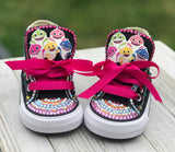 Baby Shark Converse Sneakers, Infants and Toddler Shoe Size 2-9 (Hard Sole)