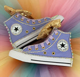 Unicorn Custom Converse, Little Kids Shoe Size 10-2