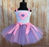 Valentines Day Tutu Dress, Valentine's Day Tutu Dress, Girls Cupid Tutu, Girls Cupid Dress, Lavender and Pink Valentines Day Tutu, Pink Valentine's Day Tutu, Purple Cupid Tutu Dress - Little Ladybug Tutus