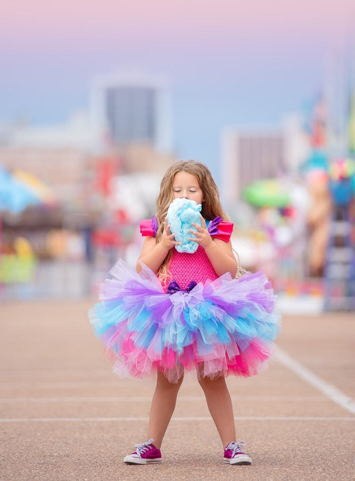 Purple Turquoise and Pink Tutu Dress