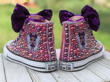 LOL Surprise Doll Purple Queen Converse Sneakers, Big Kids Shoe Size 3-6
