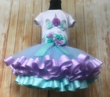 Unicorn Ribbon Trimmed Tutu, Unicorn Tutu, Unicorn Birthday Outfit - Little Ladybug Tutus