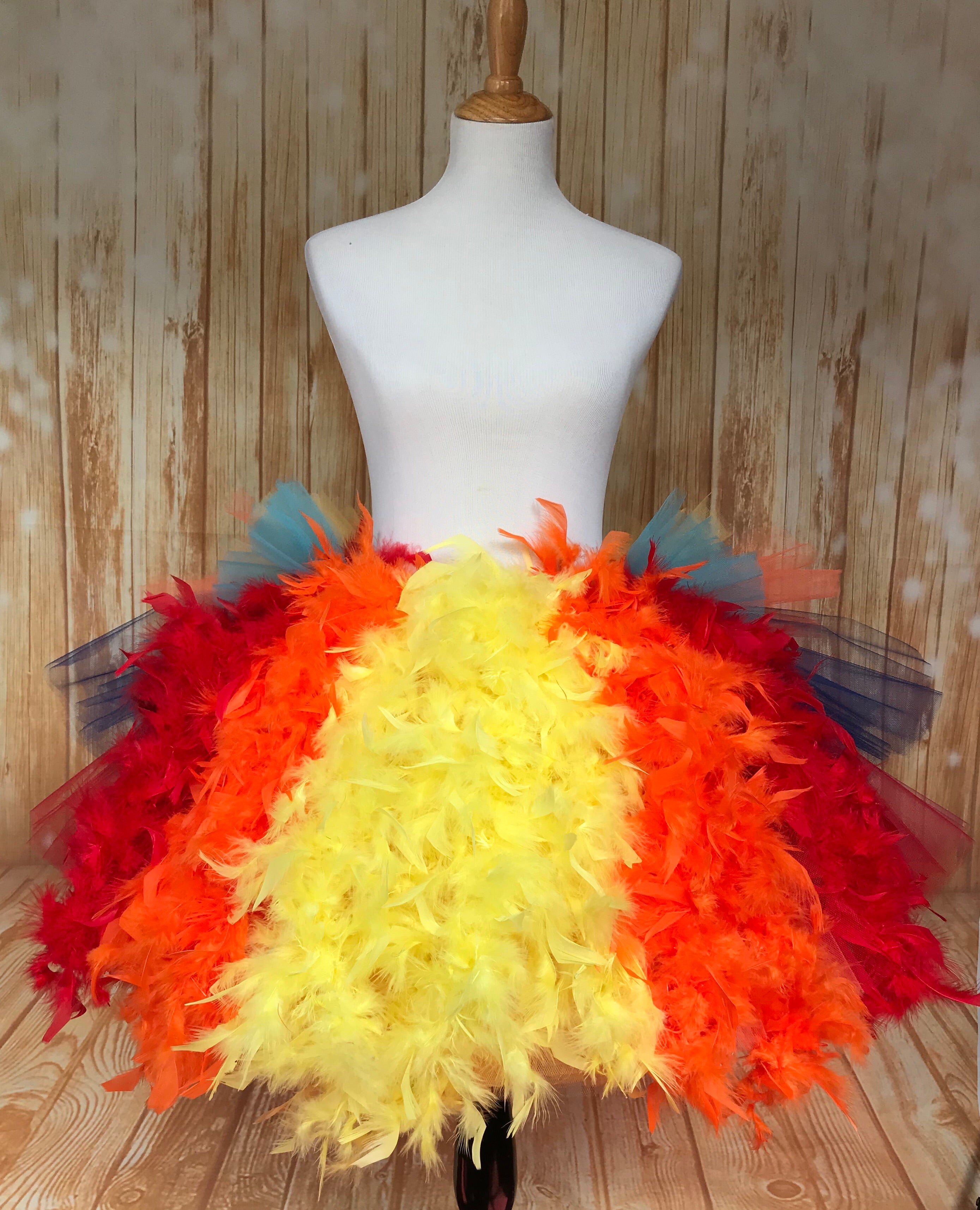 Kevin Up Women's Disney Marathon Tutu Skirt with Feathers