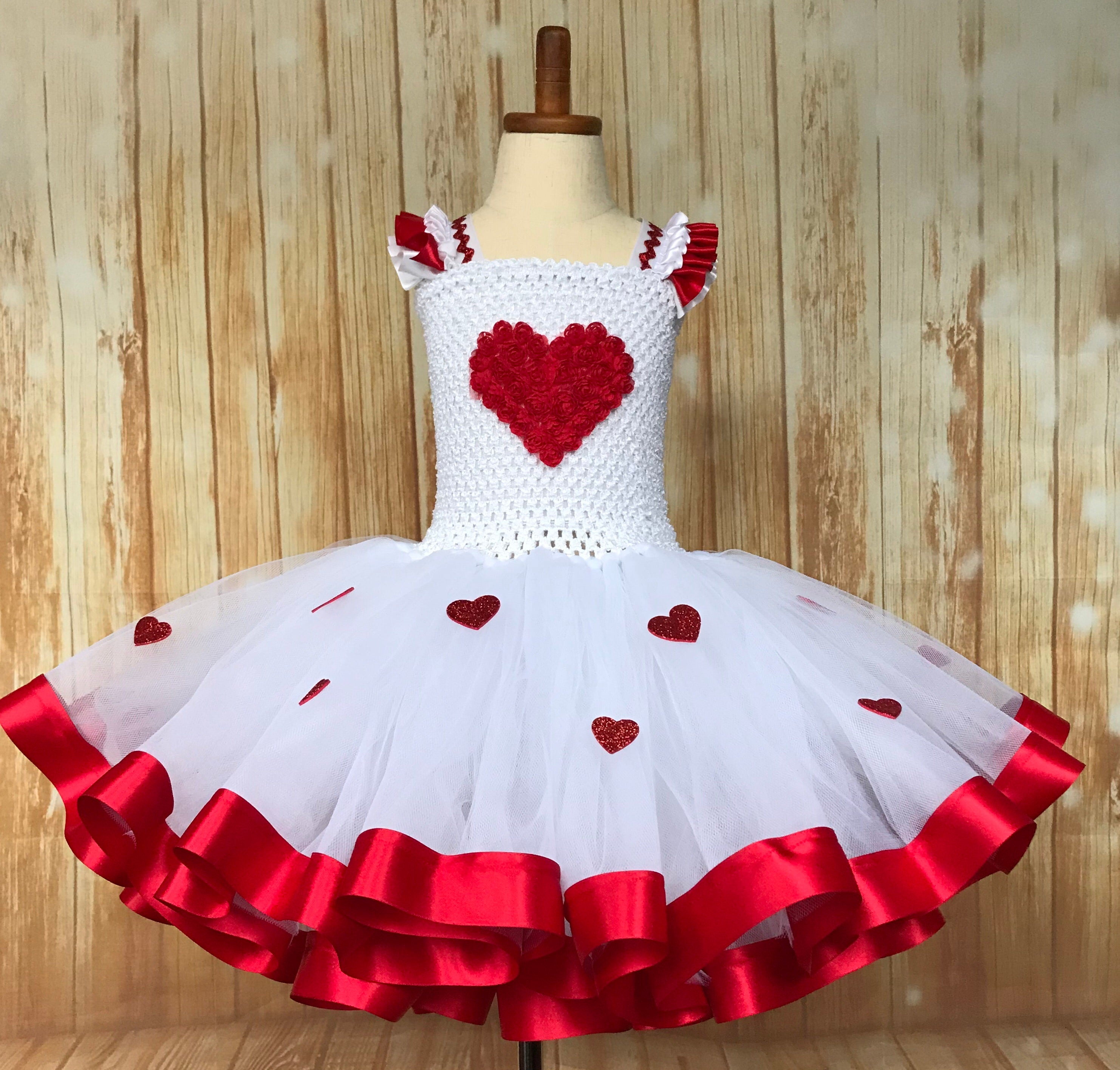 Valentines Tutu, Heart Tutu, Cupid Tutu, Valentine's Day Photo Session Tutu Dress
