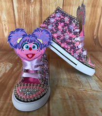 Abby Cadabby Sesame Street Custom Converse, Little Kids Shoe Size 10-2
