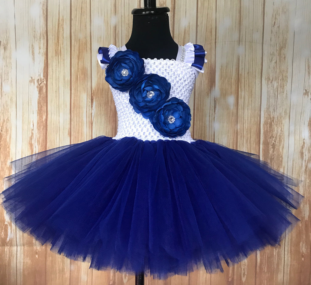 Royal Blue and White Tutu, Blue Tutu Dress