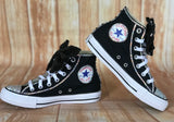 Black and White Blinged Custom Converse, Little Kids Shoe Size 10-2
