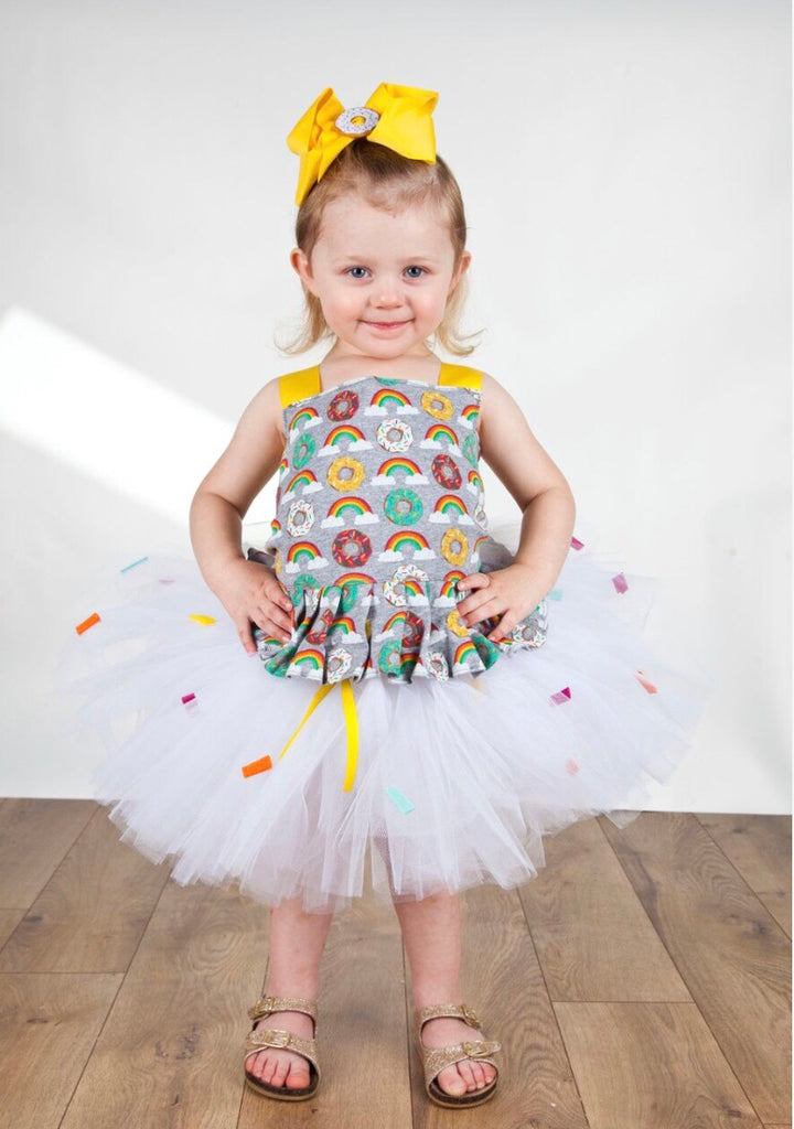 Donut Tutu, Donut Birthday Dress, Donut Grow Up Photography Prop Dress