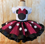 Minnie Mouse Tutu Set, Minnie Mouse Birthday Outfit, Minnie Mouse Party, Minnie Mouse Birthday