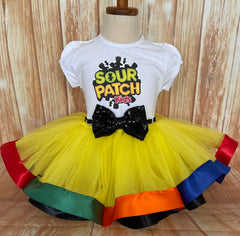 Sour Patch Kids Tutu Set, Sour Patch Kids Birthday Outfit, Sour Patch Party, Sour Patch Birthday