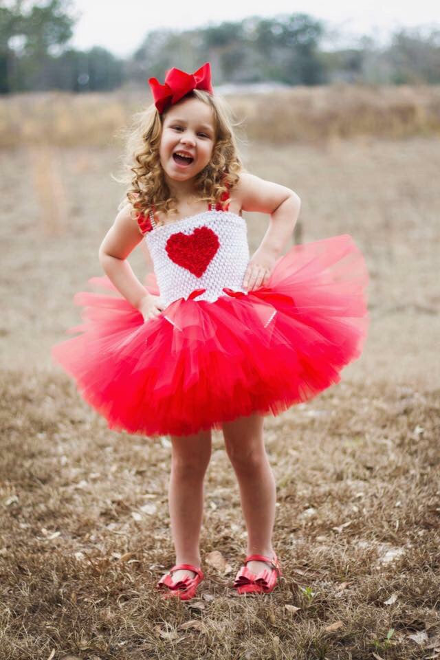 Valentines Day Cupid Tutu Dress