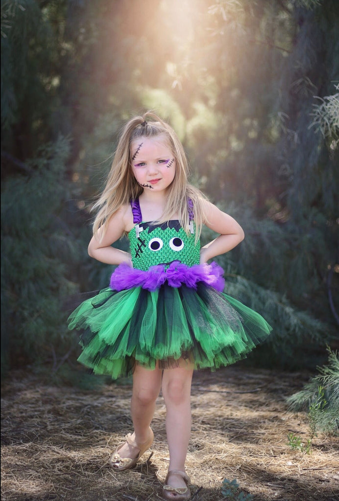 Frankenstein Tutu, Girls Frankenstein Costume, Halloween Frankenstein Girls Tutu Dress