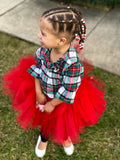 Red Tutu, Red Tutu Skirt, Christmas Tutu Skirt