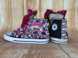 LOL Surprise Doll Diva Converse Sneakers, Big Kids Shoe Size 3-6