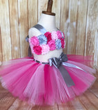Pink Smash Cake Tutu Set, First Birthday Tutu - Little Ladybug Tutus