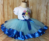 Baby Shark Tutu Set, Blue Baby Shark Birthday Outfit