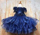 Navy Tutu Dress, Navy Pageant Dress, Navy Sequin Tutu