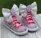 Unicorn Converse Infants and Toddler Shoe Size 2-9 (Hard Sole)