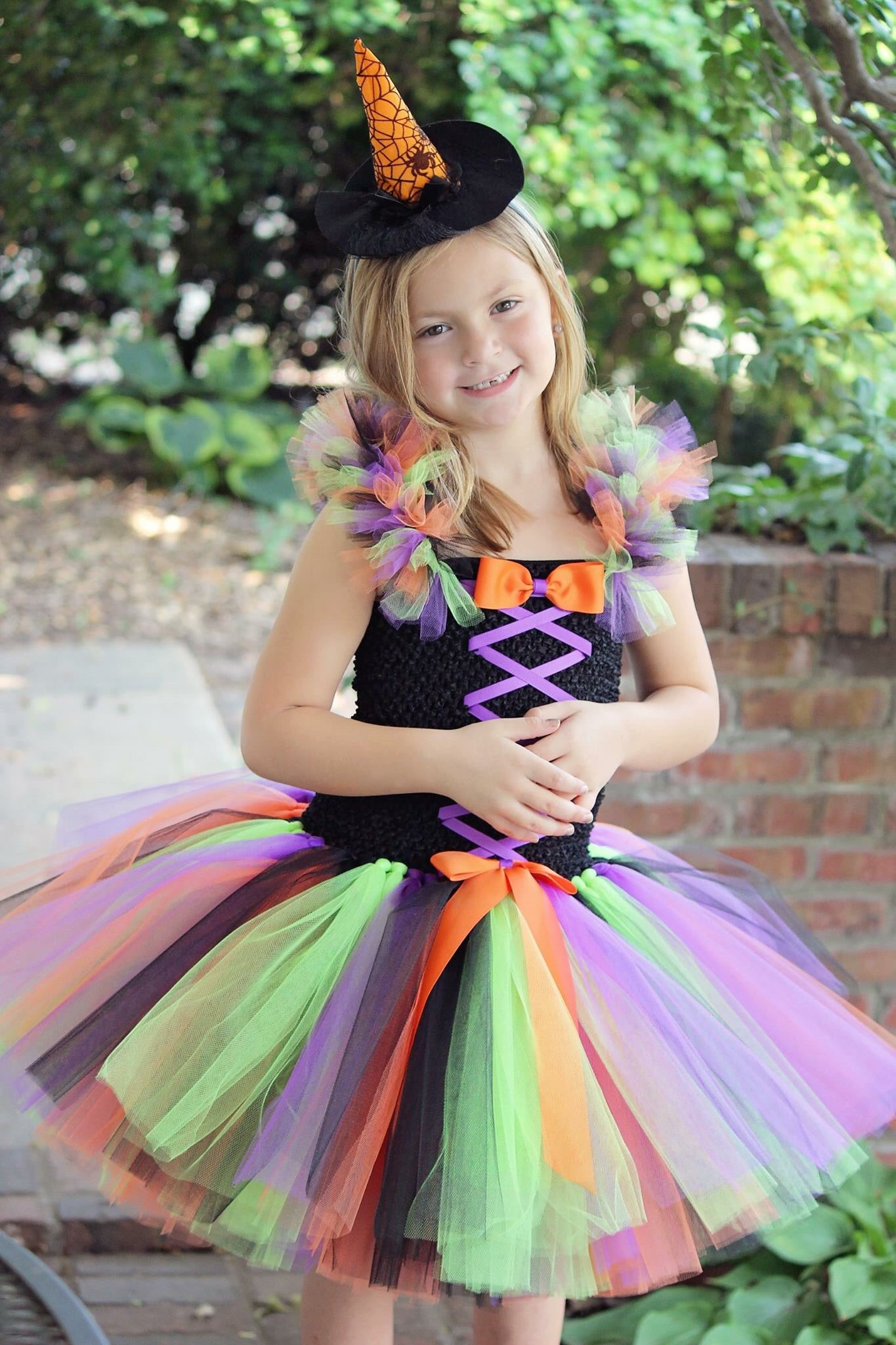 Witch Tutu Girls Witch Dress Witch Costume for Girls Witch Tulle Dress  sc 1 st  Little Ladybug Tutus & Witch Tutu Girls Witch Dress Witch Costume for Girls Witch Tulle ...
